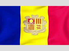 Flag Of Andorra Royaltyfree video and stock footage