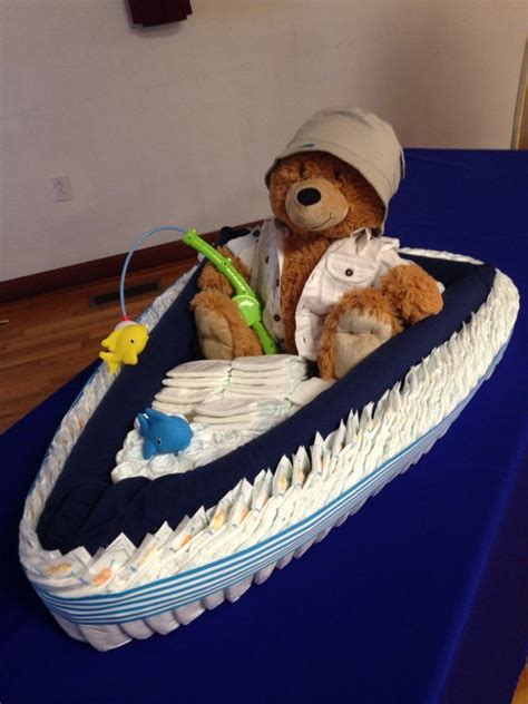 Diy Fishing Boat Diaper Cake by Pinterest The World S Catalog Of Ideas
