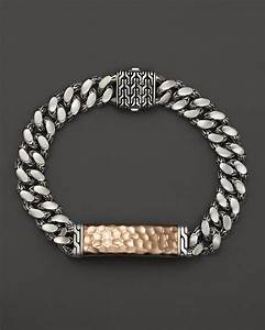 Lyst john hardy men39s sterling silver and bronze palu for Gourmette