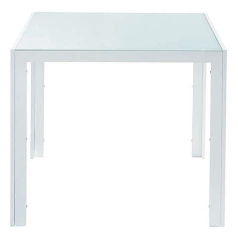 table de jardin en verre tremp 233 et aluminium blanche l 90