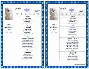 wedding menu template With food menu templates for microsoft word
