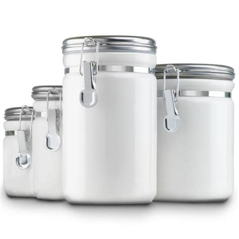 kitchen storage canisters sets ceramic kitchen canisters white set of 4 in kitchen