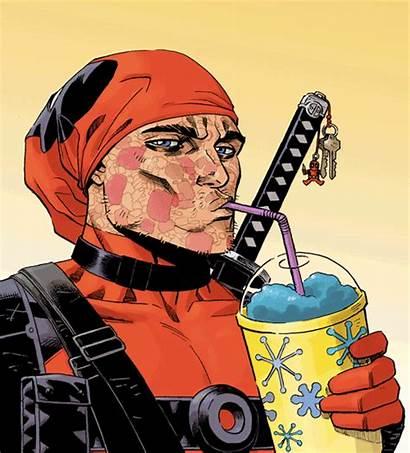 Deadpool Face Wade Wilson Animated Marvel Comics