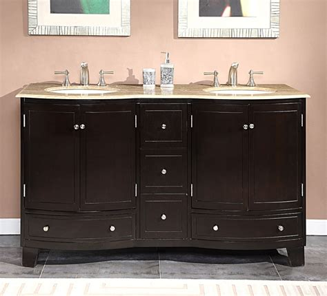 60 inch sink bathroom vanity with travertine