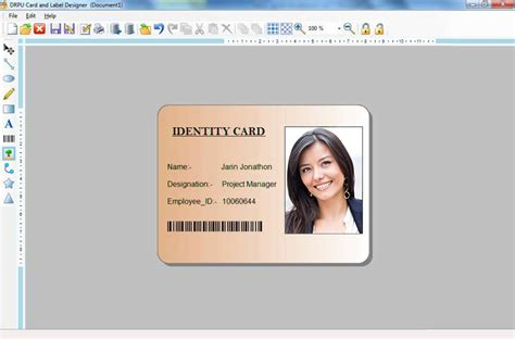 card  label maker software student employee picture