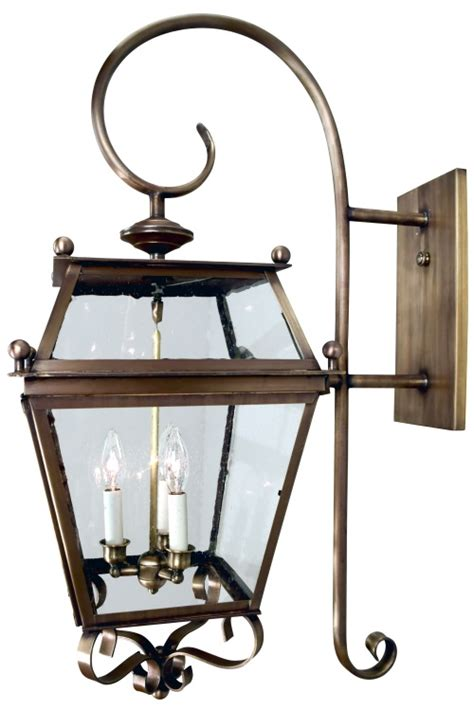 beacon colonial copper lantern wall light with bracket