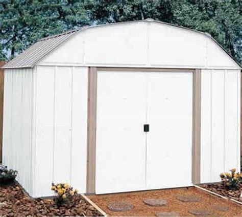 10 w x 14 d arrow outdoor metal storage shed kit