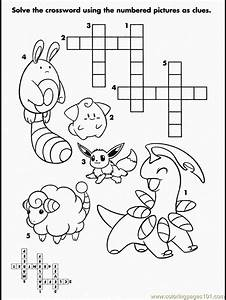 Crosswords Pokemon Coloring Page Free Crosswords Pokemon Coloring Pages