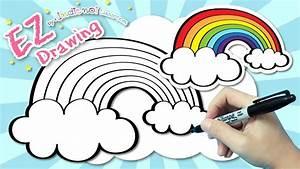 How To Draw U2605rainbow Very Easy Drawing U2605tutorial For Kids