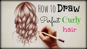 Drawing Tutorial How to draw and color Perfect Curly Hair ...