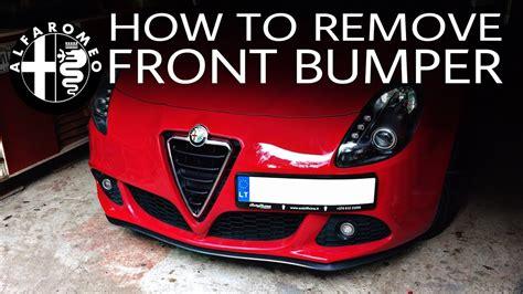 remove front bumper alfa romeo giulietta youtube