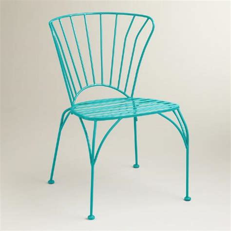 blue metal cadiz chairs set of 2 world market