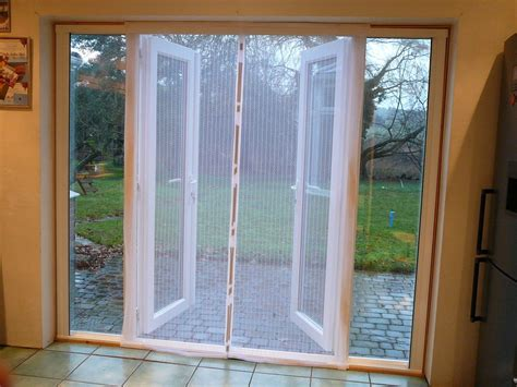 fly screen self closing magnetic patio door white 170 x
