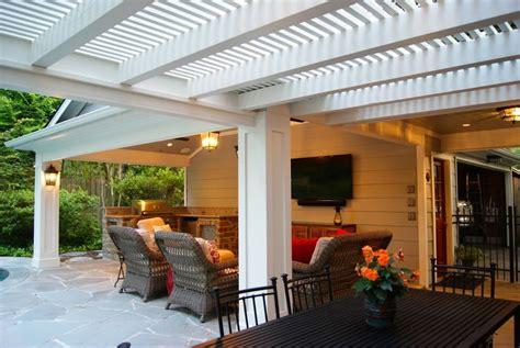 patio cover built garage outdoor kitchen in memorial