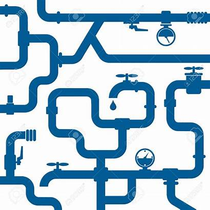 Water System Clipart Distribution Background Vector Gas