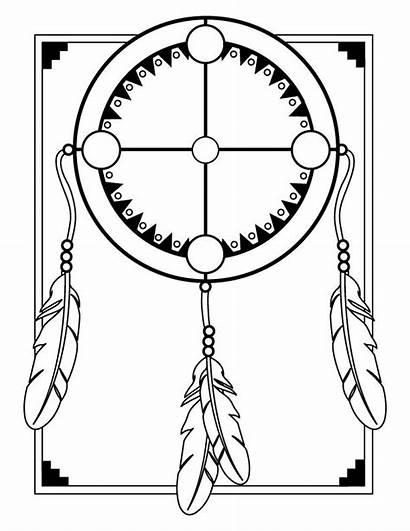 Medicine Wheel Template Aboriginal Coloring Clip Pages