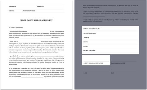Full Form Of Flm by The Complete Guide To Actor Release Forms Free Template
