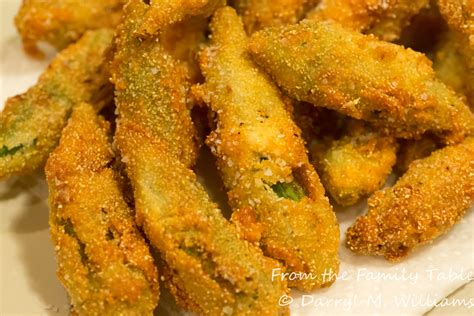 fried okra fried okra from the family table
