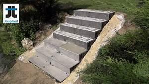 escalier exterieur sans beton ceramique modulesca youtube With realiser un escalier exterieur