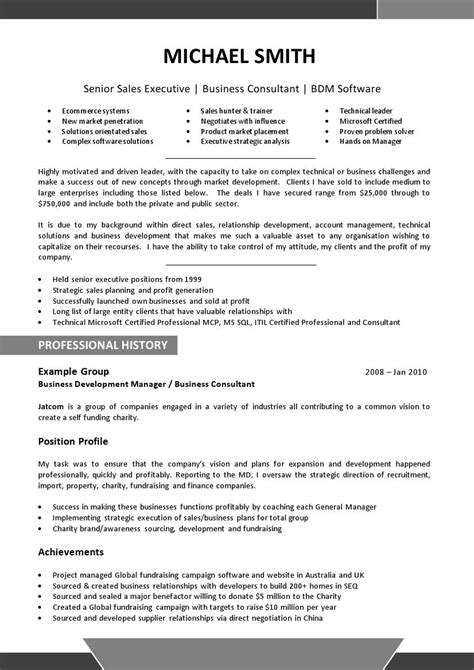 c level resume sles gallery creawizard