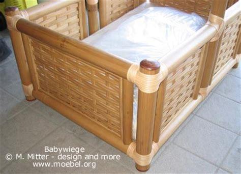 vorhang für bett babywiege aus bambus