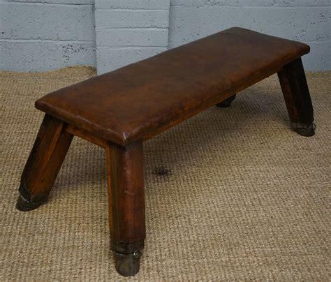 vintage leather bench vintage leather bench stool 0129 la85816 3233