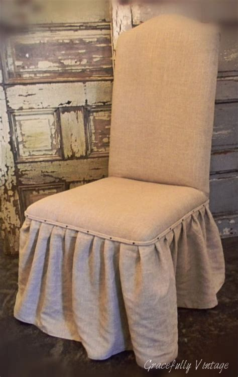 dining room chairs linen ruffle skirted