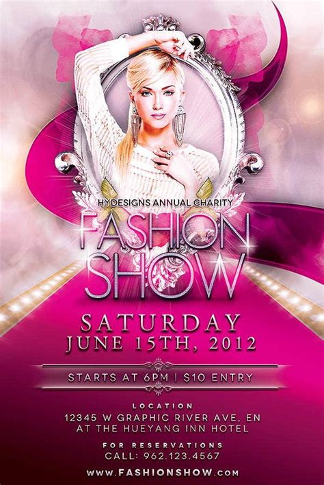 fashion show flyer templates  word psd ai eps