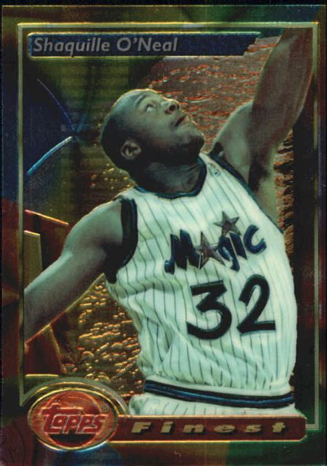 topps finest basketball  shaquille oneal