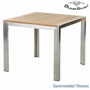 Siena Garden Tisch : gartenm bel thomas diamond garden siena tisch 90x90 gestell edelstahl tischplatte teak ~ Orissabook.com Haus und Dekorationen