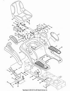 Mtd 14aa815k004  2008  Parts Diagram For Seat  Fender