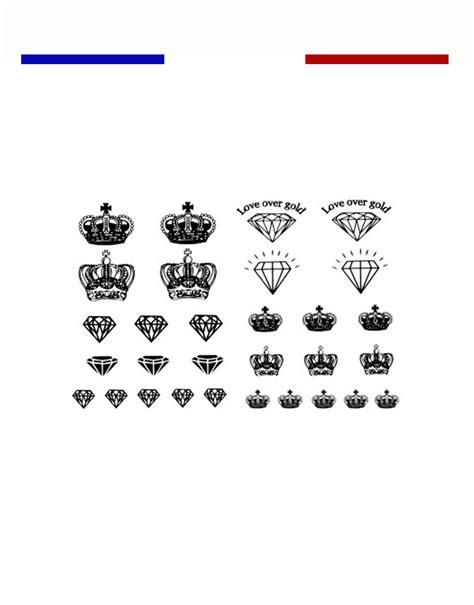 tatouage couronne roi  reine mon petit tatouage temporaire