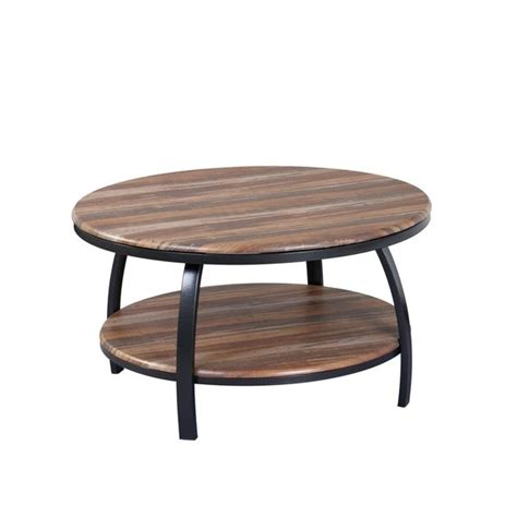 Find a great selection of wood coffee tables, metal accent tables, storage tables & more. Shop Emerald Home Carson Natural Wood and Soft Black Round Coffee Table with Round Table Top ...