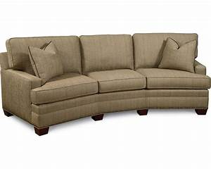 Simple choices wedge sofa thomasville furniture for Sectional sofa wedge table