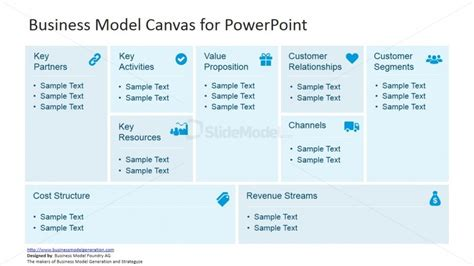 Business Management Canvas For Powerpoint