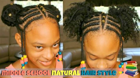 Braided Natural Hair Style On My Little Sister!!