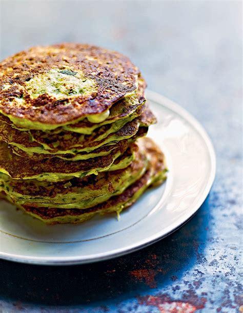 recettes de cuisine gratuites pancakes de courgettes et ricotta à la menthe pour 4