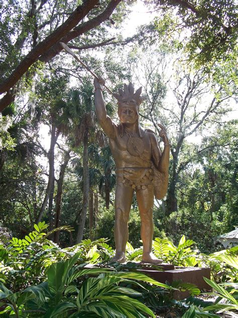 foot tall timucuan indian chief   fountain  youth