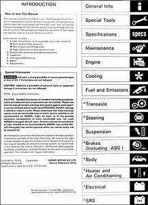 1996 Honda Odyssey Repair Shop Manual Original