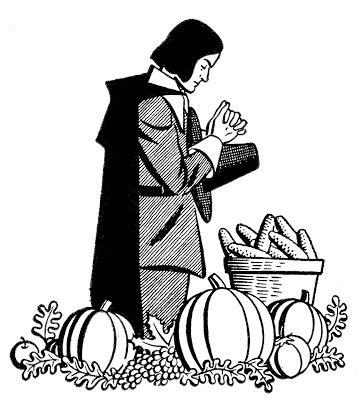 vintage thanksgiving clip art pilgrim praying