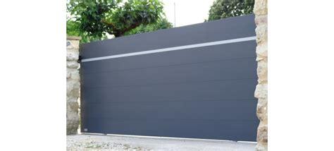 portail coulissant alu 3m50 portail plein coulissant aluminium au design original leportailalu