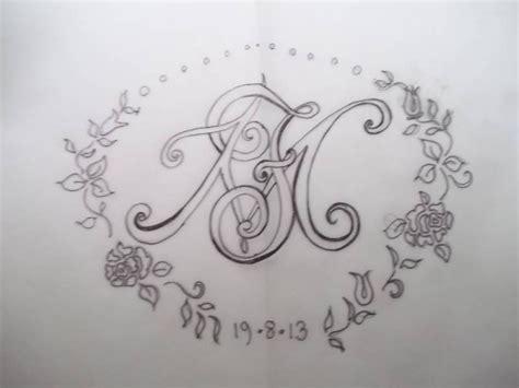 hand embroidered whitework wedding monogram   addison embroidery   vicarage