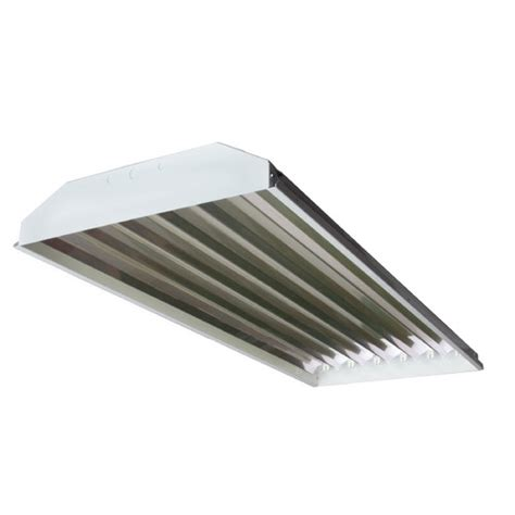 6 light high bay fluorescent light fixture with 32w t8