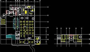 Restaurant Lounge Bar DWG Block for AutoCAD • Designs CAD