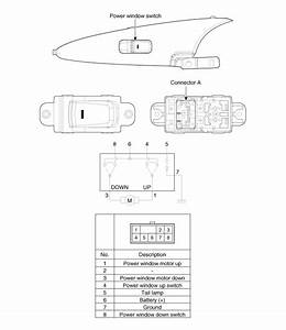 Hyundai Sonata  Power Window Switch  Schematic Diagrams - Power Windows