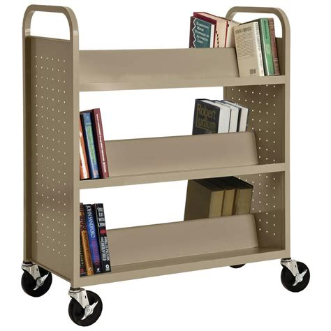 Steel Bookcases by Sandusky Tropic Sand Mobile Steel Bookcase Sv336 04 The
