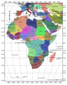 Africa and Middle East Countries Map