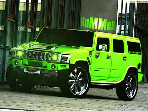 Modified Resection Definition by Modified Hummer Green Car High Definition Wallpapers