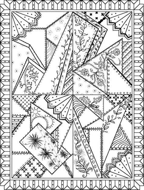 patchwork quilt designs coloring book doodles coloring
