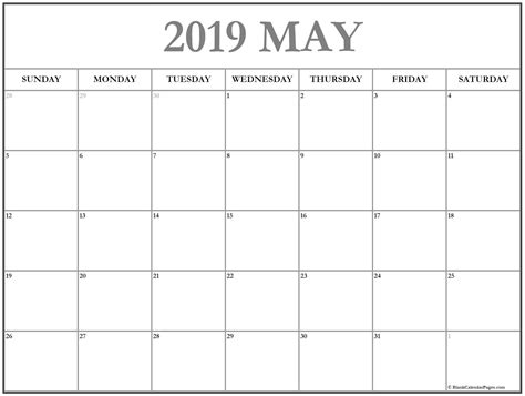 56+ Templates Of 2019 Printable Calendars